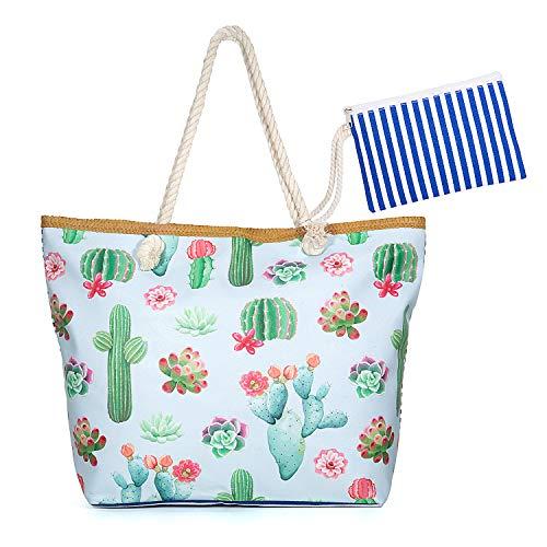 01 Jolintek Sac de Plage Gros avec /à toile Sac de Shopping Sac de Plage Grande Taille Beach Bag Pour Femme et Filles